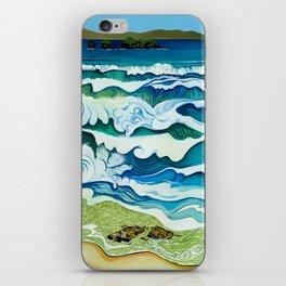 Hahei Beach at High Tide iPhone Skin