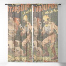1910 Cognac Otard Dupuy Cornac Advertisement Poster Sheer Curtain
