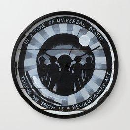 Revolutionary Act Wall Clock