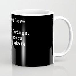 Sonnet 29 - Love Sonnet on black Coffee Mug