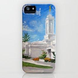 Colonia Juarez Mexico LDS Temple iPhone Case