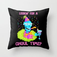 Lookin' for a ghoul time? Throw Pillow