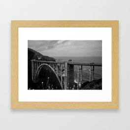 Bixby Bridge Framed Art Print