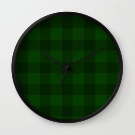Forest Gingham Wall Clock