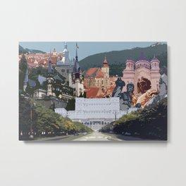 Romania Collage Metal Print