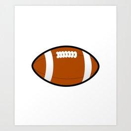 California American Football Design white font Art Print