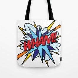 Comic Book Pop Art WHAM Tote Bag
