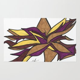 Autumn Reaching Abstract Street Art Ink Drawing Rug