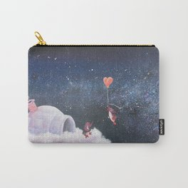 Penguin Lovers and Their New Home in the Stars Carry-All Pouch