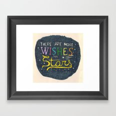 There are more wishes than stars Framed Art Print