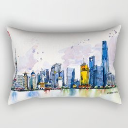 20161009a Shanghai Rectangular Pillow