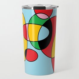 Circulos mult color Travel Mug