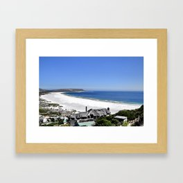The perfect house on the beach - Hout Bay Framed Art Print