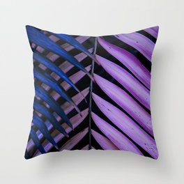 Leaves pink and blue Throw Pillow