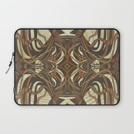 Neo-Tribal Woodwork Mandala Print Laptop Sleeve