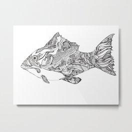 Swishy Fish Metal Print
