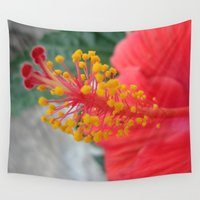 hibiscus Wall Tapestries featuring Hibiscus by BACK to THE ROOTS