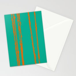 uneven lines of orange Stationery Cards