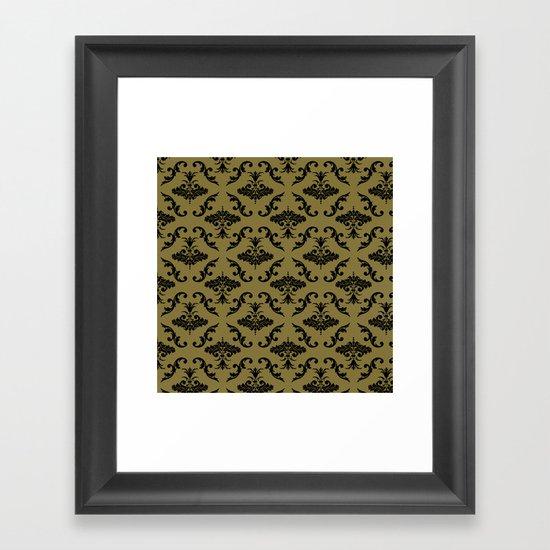 Gold Damask Framed Art Print