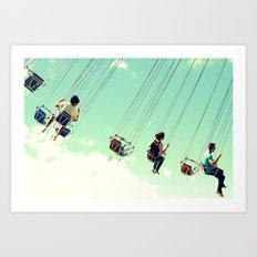 On Cloud 9 Art Print