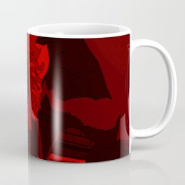 Thee Sunflower in Red by Mgyver Coffee Mug