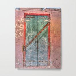 Blue and Red Door - St. Croix, U.S. Virgin Islands, 2011 Metal Print