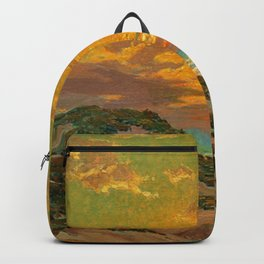 Sunset amid the Dunes by Granville Redmond Backpack