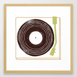 Put a record on for me, darlin' Framed Art Print