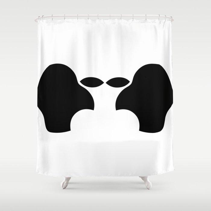 The Apple Alien Shower Curtain
