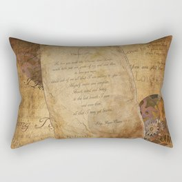 Two Hearts are One - Vintage Romantic Steampunk Art Rectangular Pillow