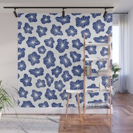 Japanese clouds pattern Wall Mural