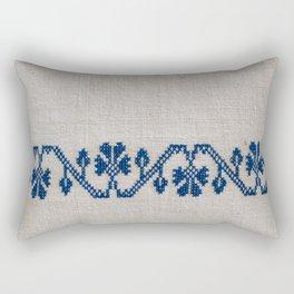 cross-stitch border Rectangular Pillow
