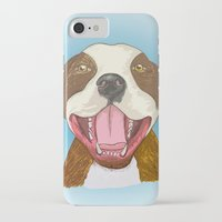 pit bull iPhone & iPod Cases featuring Pit Bull Pride by Kat Lyon