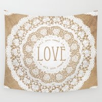 all you need is love Wall Tapestries featuring All You Need is Love by Jenndalyn