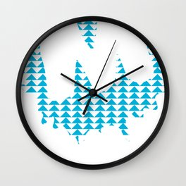 Moulded Triangle / Moulded Rides Wall Clock