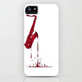 Red Hot Saxophone iPhone Case