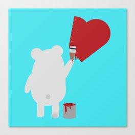 Polar Bear painting Canvas Print