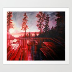 Night After Night  Art Print