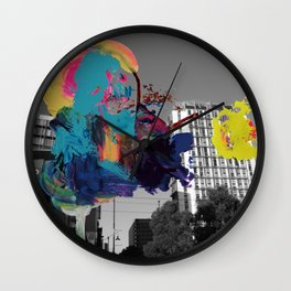 Digital painting collage series #1 Wall Clock