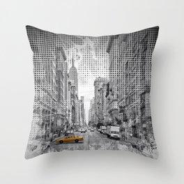 Graphic Art NEW YORK CITY 5th Avenue Throw Pillow