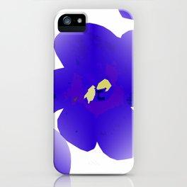 Large Retro Blue Flowers 1 White Background #decor #society6 #buyart iPhone Case