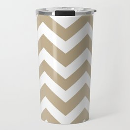 Khaki (HTML/CSS) (Khaki) - grey color - Zigzag Chevron Pattern Travel Mug