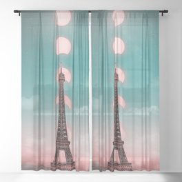 Magical about Eiffel Tower Sheer Curtain