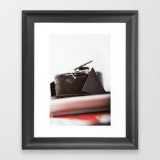 chocolate mouse cake Framed Art Print