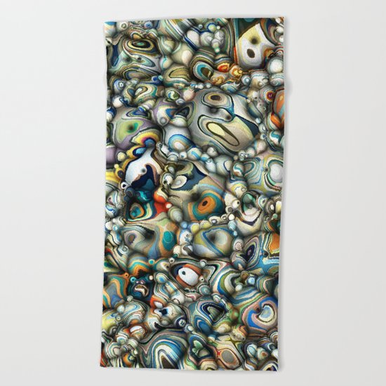 Colorful 3D Abstract Beach Towel