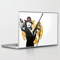 peggy carter Laptop & iPad Skins featuring Agent Peggy Carter by PawixZkid