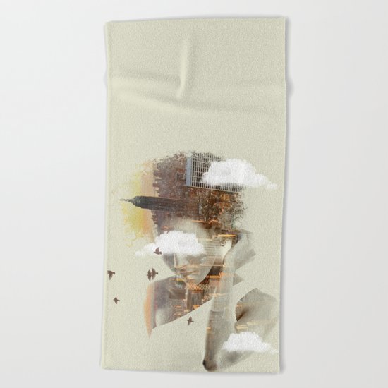 New York Dreaming Beach Towel