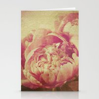 peonies Stationery Cards featuring Peonies by V. Sanderson / Chickens in the Trees