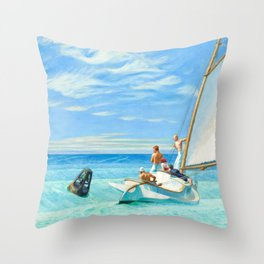 Ground Swell, 1939 by Edward Hopper Throw Pillow