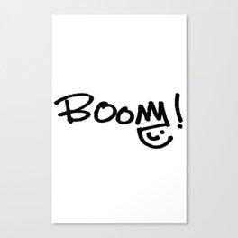 BOOM! Original Design by Jill Fressinier Canvas Print
